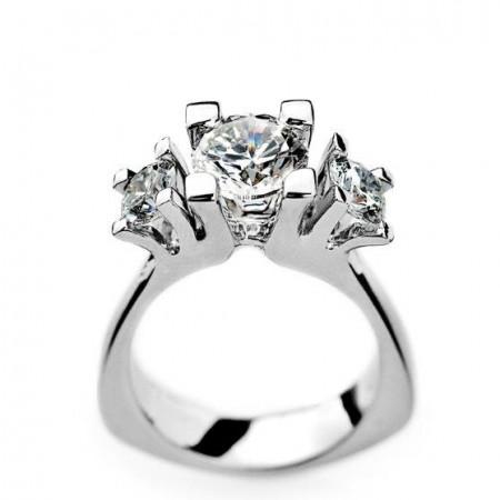 Melcher Copenhagen diamantring i hvidguld - Guldsmykker er en perfekt og unik morgengave til den du holder af.