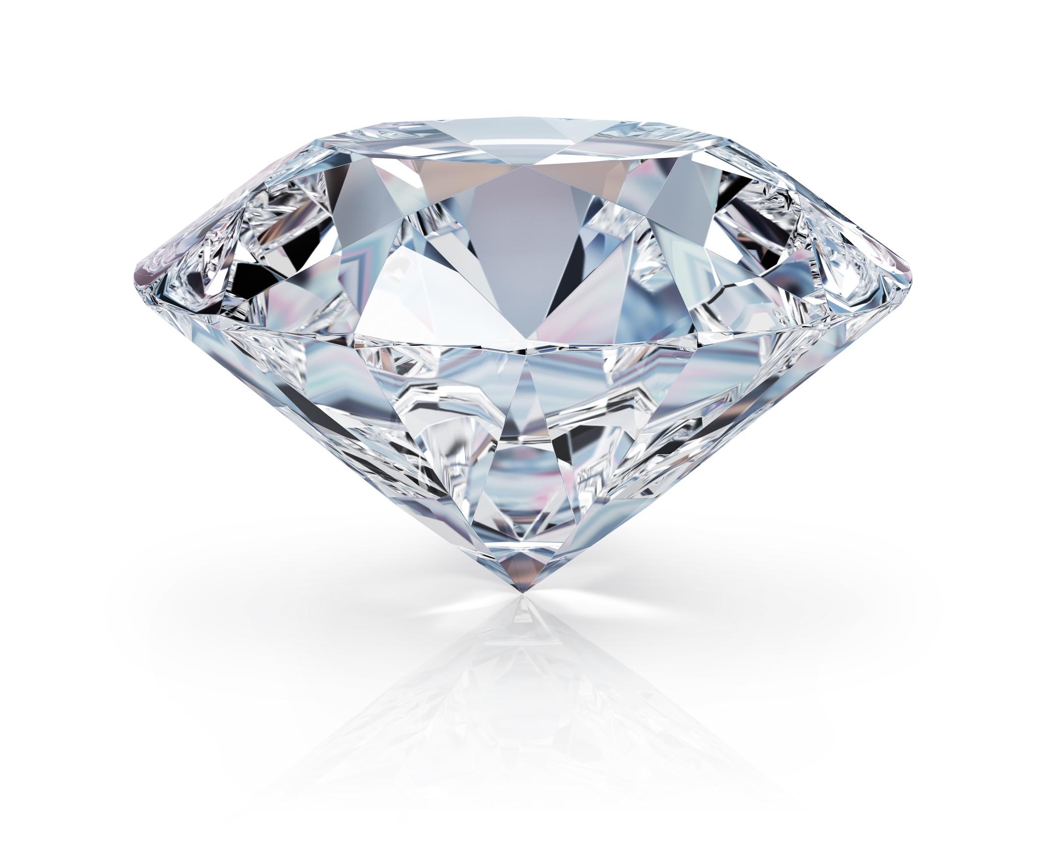 hvad består en diamant af
